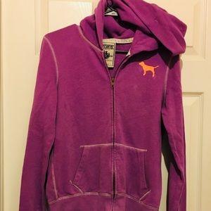 💥PINK zip up hoodie size Medium 💥
